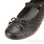 Geox Plie Girls Quilt Patterned Black School Shoe