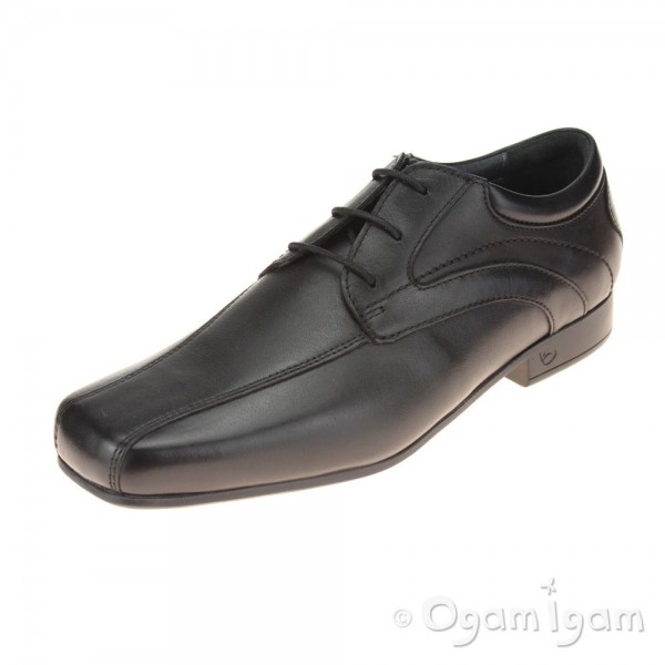 Start-rite Times Senior Boys Black School Shoe