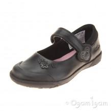 Clarks NibblesSam Inf Girls Black School Shoe