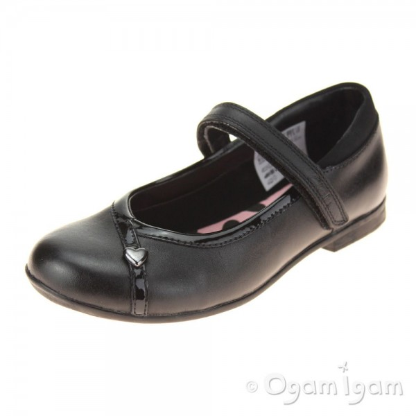 Clarks Movello Lo Inf Girls Black School Shoe