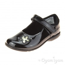 Clarks TrixiCandy Inf Girls Black Patent School Shoe
