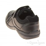 Clarks Air Learn Infant Boys Black School Shoe