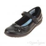 Clarks Ting Fever Jnr Girls Black School Shoe