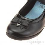 Clarks Ting Fever Inf Girls Black School Shoe