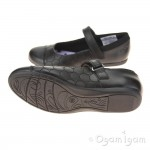 Clarks Dance Buzz Jnr Girls Black School Shoe