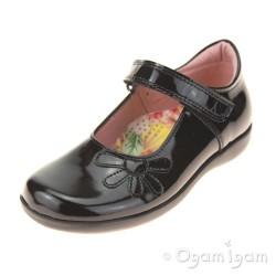 Petasil Bonnie Girls Black Patent School Shoe