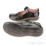 Petasil Bonnie Girls Black Patent School Shoe