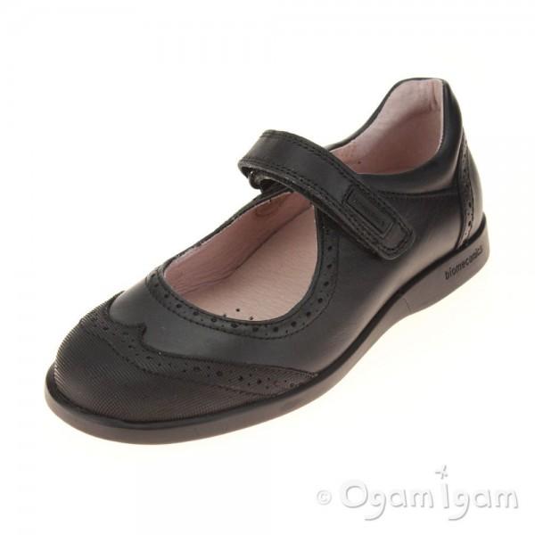 BioMechanics 161121 Girls Black School Shoe
