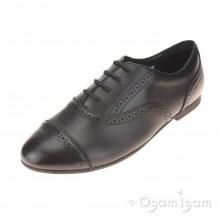 Clarks SelseyCool BL Girls Black School Shoe