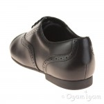 Clarks SelseyCool BL Girls Black School Shoe