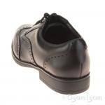 Clarks Sami Fizz Jnr Girls Black School Shoe