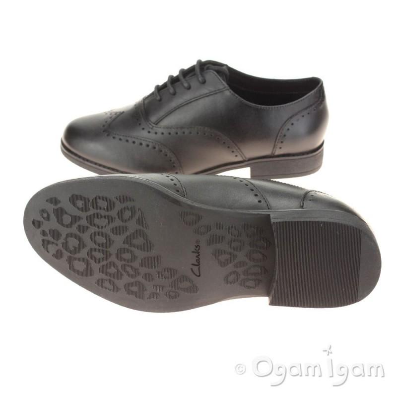 Clarks Sami Flash Girls School Shoe