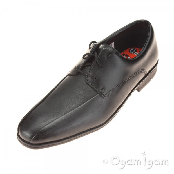 Clarks Willis Lad BL Boys Black School Shoe