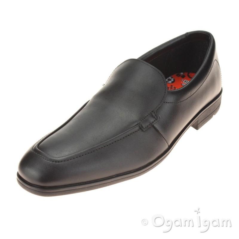 Clarks Willis Step BL Boys Black School Shoe