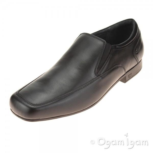 Start-rite Tyler Boys Black School Shoe