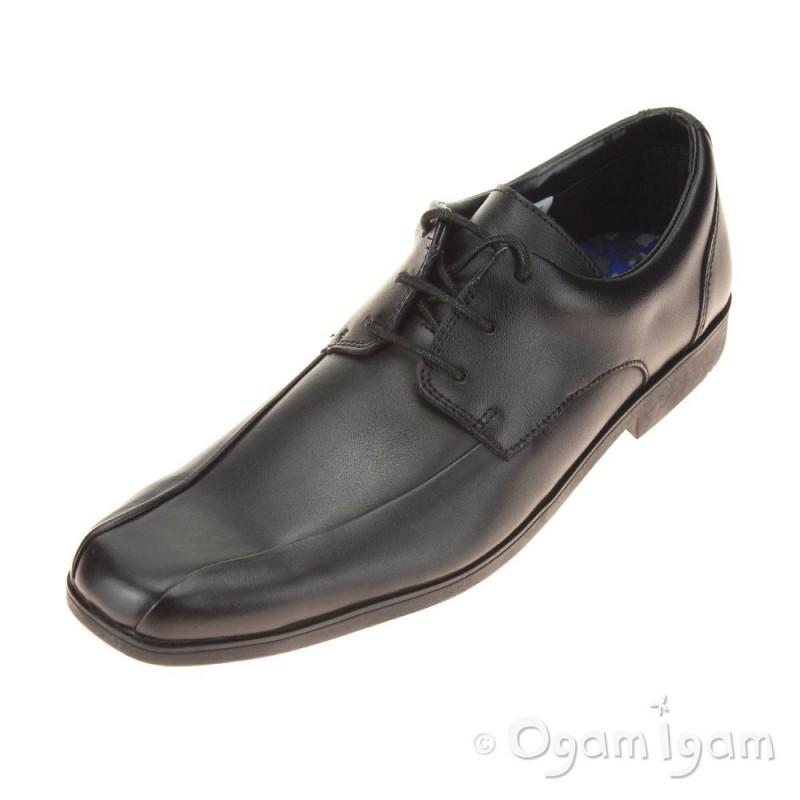 9470a237f Clarks Hoxton Chap Boys Black School Shoe