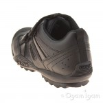 Geox Savage Junior Boys Black School Shoe
