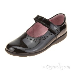 Start-rite Emily Girls Black Patent School Shoe