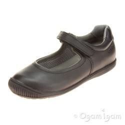Geox Gioia Girls Black School Shoe