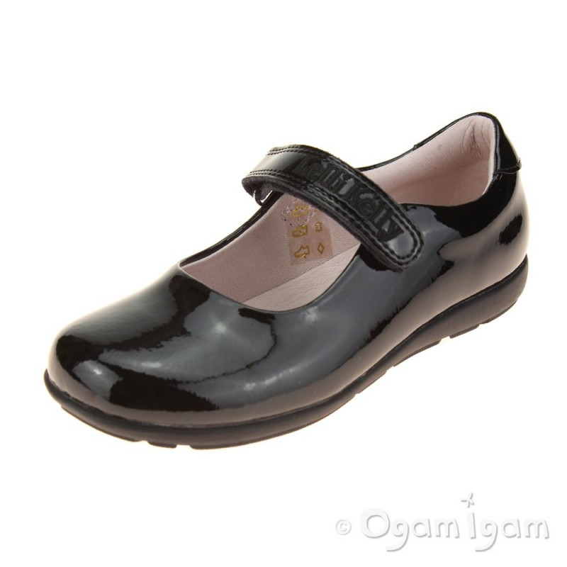 d42a6cf4f1e4a Lelli Kelly Classic Girls Black Patent School Shoe | Ogam Igam