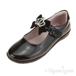 Lelli Kelly Sophia Girls Black Patent School Shoe