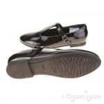 Clarks SelseyFudge Jnr Girls Black Patent School Shoe