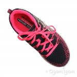 Skechers Burst Ellipse Girls Charcoal-Pink Trainer