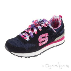 Skechers Retrospect Floral Fancies Girls Blue-Multi Trainer