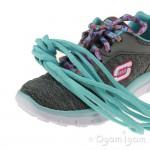 Skechers Skech Appeal Eye Catcher Girls Grey-Aqua Trainer