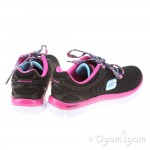 Skechers Skech Appeal Eye Catcher Girls Black-Hot Pink Trainer