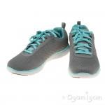 Skechers Flex Appeal Break Free Womens Grey-Light Blue Trainer