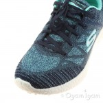 Skechers Burst Womens Navy-Aqua Trainer