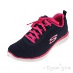 Skechers Flex Appeal Womens Navy-Pink Trainer