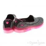 Skechers Go Flex Walk Womens Black-Hot Pink Shoe