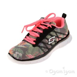 Skechers Skech Appeal Floral Bloom Girls Black-Multi Trainer