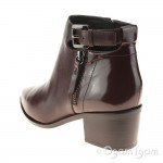 Geox Lia Womens Dark Burgundy Ankle Boot