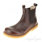 Angulus 6320 Boys-Girls Stitched Brown Chelsea Boot