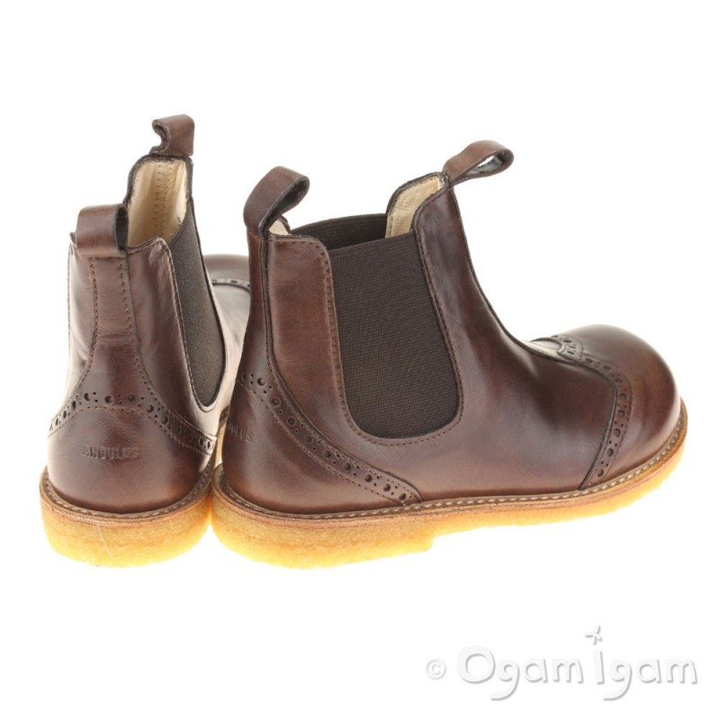 angulus 6320 boys stitched brown chelsea boot ogam