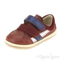 Clarks SoftlyZakk Fst Boys Brown Shoe