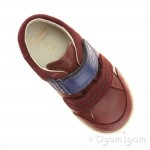 Clarks SoftlyZakk Fst Boys Brown Shoe