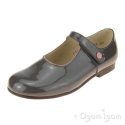 Start-rite Diana V Girls Grey Patent Shoe