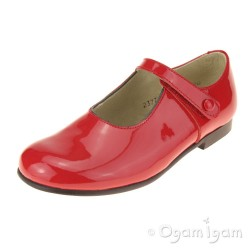 Start-rite Diana V Girls Red Patent Shoe