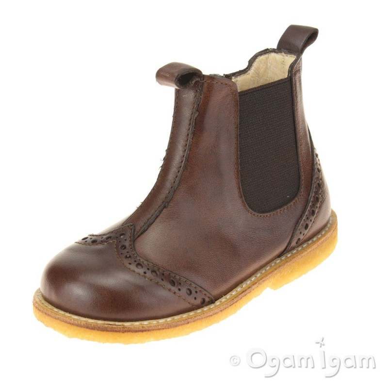 angulus 6024 boys brown chelsea boot ogam igam