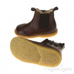 Angulus 6024 Boys-Girls Brown Chelsea Boot