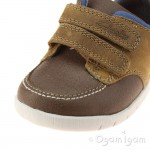 Clarks Crazy Jay Fst Infant Boys Tan Shoe