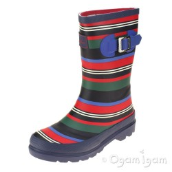 Joules Multi Stripe Boys Multi-coloured Wellington Boot