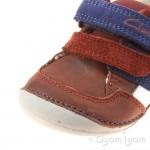 Clarks Tiny Zakk Infant Boys Brown Shoe