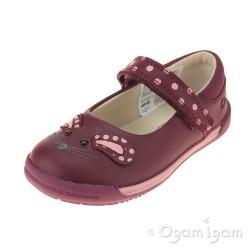 Clarks Iva Pip Fst Girls Plum Shoe