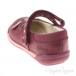 Clarks Iva Pip Fst Girls Plum Shoe