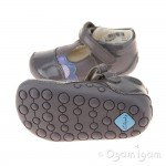 Clarks Little Caz Infant Girls Grey Shoe